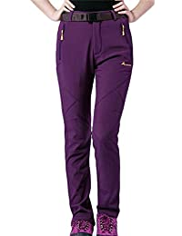 Yayun Yayu Womens Casual Fleece Lined Windproof Waterproof Hiking Ski Pants