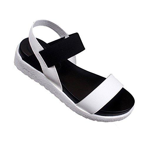 Sandalias FAMILIZO Sandalias Sandalias Peep bajos verano oras Sandalias mujeres Blanco romanas de flip pie flops Zapatos dedo mujer del Se las de zapatos vestir de de rBrqftExwn