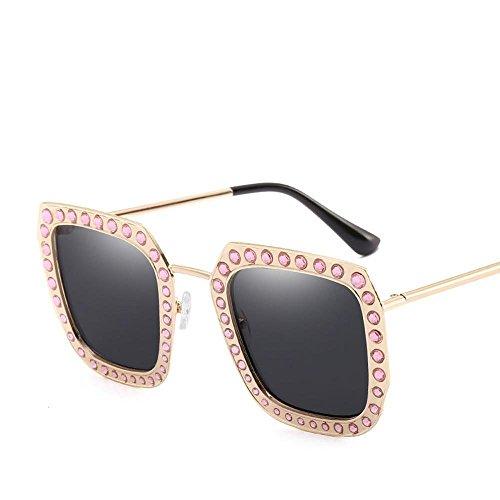 Aoligei Mode Diamond Retro lunettes de soleil Chao Men rue battre metal lunettes de soleil lunettes de soleil E
