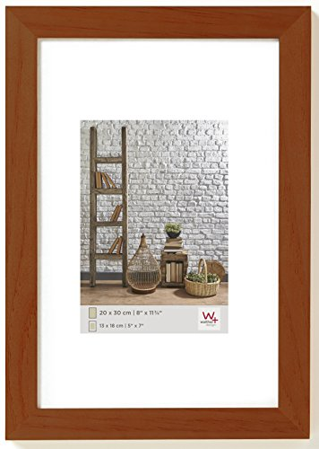Walther design TA050N Natura wooden picture frame, 15.75 x 19.75 inch (40 x 50 cm), walnut
