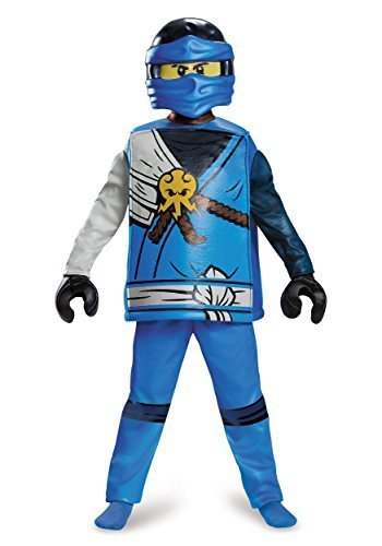 Jay Deluxe Ninjago LEGO Costume, Medium/7-8 (Ninjago Costumes For Kids)
