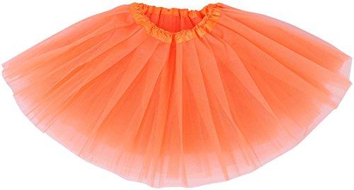 [Baby 5 Layered Tulle Classic Princess Dress-up Tutus for Girls,Orange,6-18 month] (Baby Halloween Tutus)