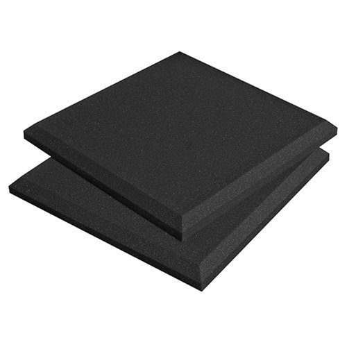 "Auralex Acoustics SonoFlat Acoustic Absorption Foam, 2"" x 24"" x 24"", 16-Panels, Charcoal"