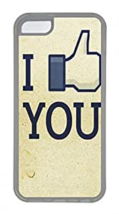 iPhone 5c case, Cute I Like You iPhone 5c Cover, iPhone 5c Cases, Soft Clear iPhone 5c Covers