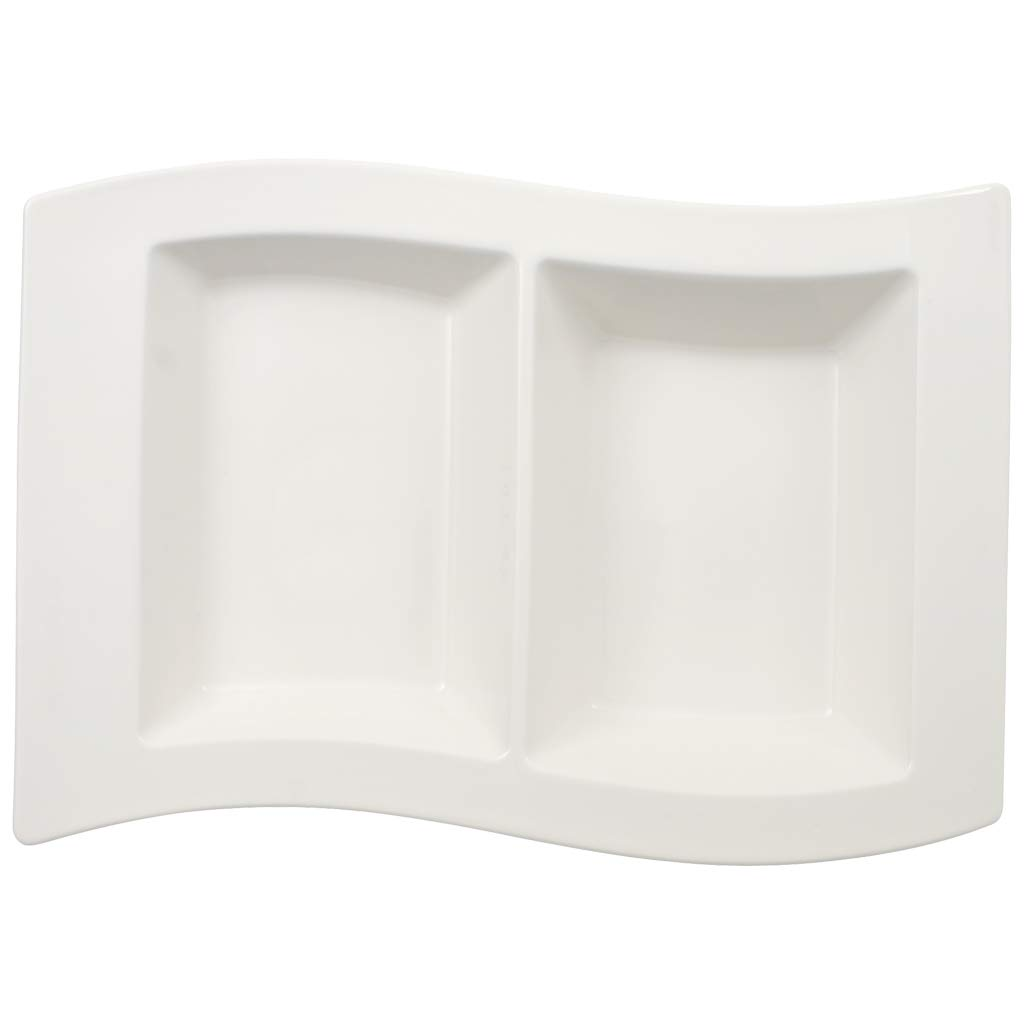 Villeroy & Boch New Wave 12-1/4 by 8-1/4-Inch 2 Part Divided Tray