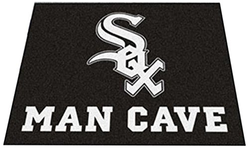 Fanmats 22393 Mlb-Chicago White Sox Man Cave Tailgater Rug Sox Tailgater Rug