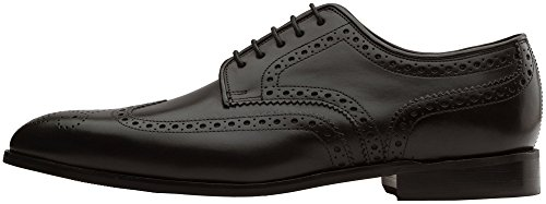 Dapper Shoes Co. Handcrafted Genuine Leather Men's Classic Brogue Oxford Wing-Tip Lace up Leather Lined Perforated Dress Oxfords Shoes Black footaction online cheap sale fashion Style Phfzt1Dyx