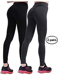 dfe8b97f03 Workout Leggings for Women - High Waisted Leggings with Scrunch Butt, Push  Up, V