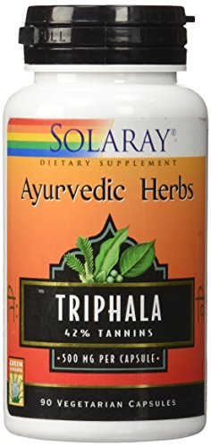 Solaray Triphala Extract 500 mg VCapsules, 90 Count