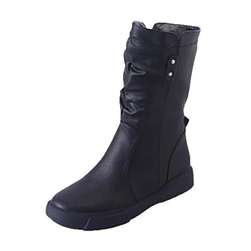 Laced Biker Boots - 5