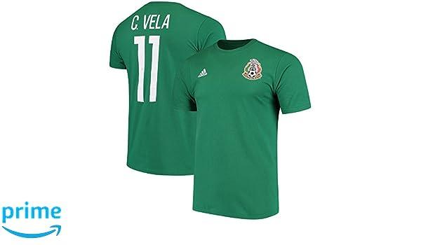 896cdb067 Amazon.com   adidas Carlos Vela Mexico National Team Federation Name   Number  T-Shirt - Green   Sports   Outdoors