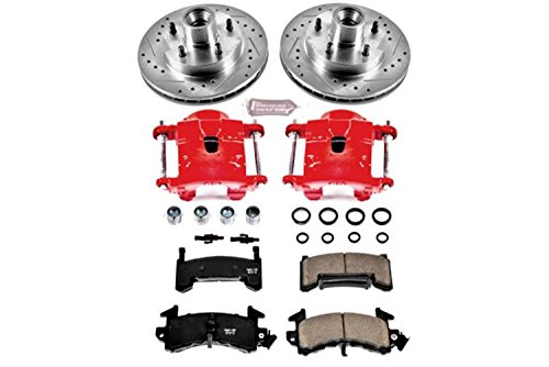 Power Stop KC1485 1-Click Performance Brake Kit with Calipers, Front Only