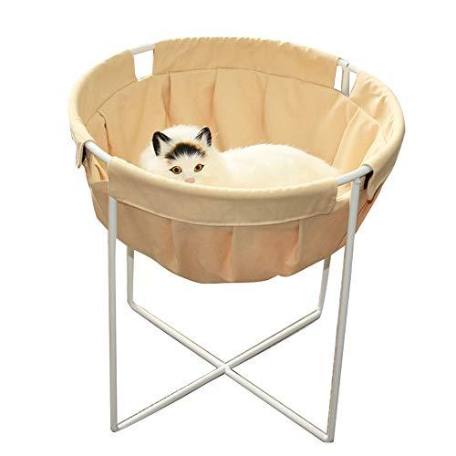 QNMM Gato Columpio Hamaca Gato sueño Profundo Hamaca Redonda Respirable Refrescante Gato Cama Desmontable para Gatos...