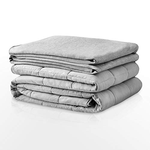 Cheap Degrees of Comfort Advance Cooling Weighted Blanket with Inner Cotton Insert Patented Zoning Design Distributes Weight to Sides (Grey/Grey 18lbs 60x80) Black Friday & Cyber Monday 2019