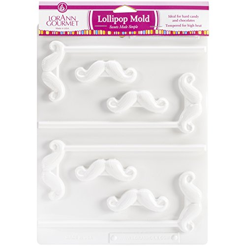LorAnn Oils Mustache Lollipop Sheet Mold