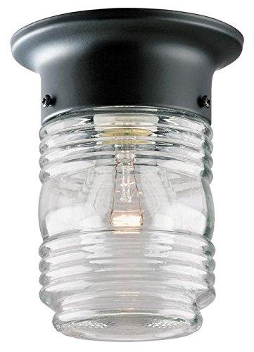 (One-Light Jelly Jar Porch-Light (Black))