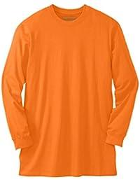 "<span class=""a-offscreen"">[Sponsored]</span>Men's Big & Tall Heavyweight Long-Sleeve Crewneck, Bright Orange"
