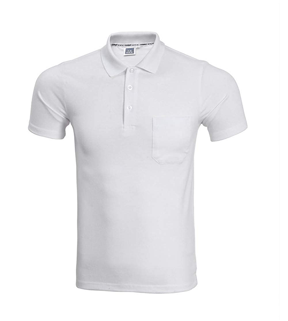 Goodtimeshow Polo Shirt Men Fashion Short Sleeve Pocket Polo Homme Casual Slim Fit Men Polos