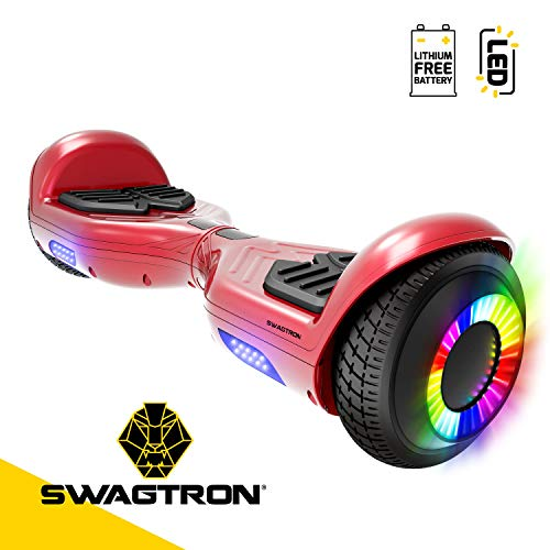 Swagboard Twist Remix Lithium-Free Kids Hoverboard with LED Wheel Lights
