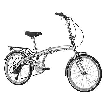 B4C - Bicicleta plegable de aluminio de 6 velocidades ...