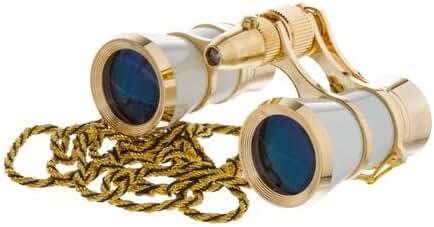 LaScala Optics Carmen Opera Glasses White/Gold