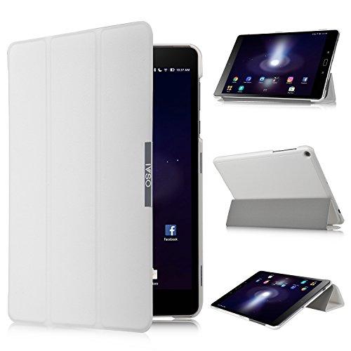 Dragon Touch X80 Funda carcasa caso case, KuGi ® Dragon Touch X80 Funda carcasa - Alta calidad ultra-delgada del caso de la cubierta elegante para Dragon Touch X80 Tablet.(Negro) Blanco