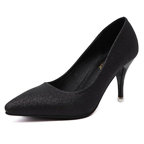 1TO9Mmsg00305 - Sandali con Zeppa donna, nero (Black), 35