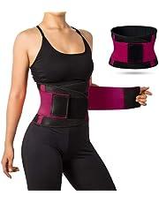 حزام تدريب الخصر للنساء، مجموعة حزام مسامي للتعرق مع ملحق اكسسوارت بلاستيك، حزام لتمارين حرق دهون الخصر