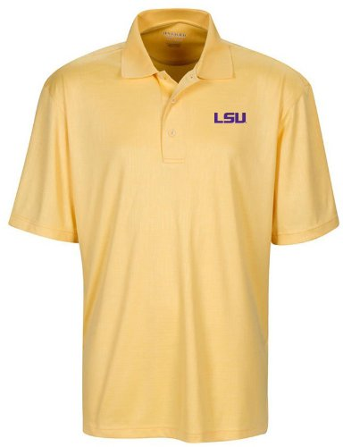 - NCAA LSU Tigers Men's Cross Hatched Embossed Polo, XX-Large, Citrus