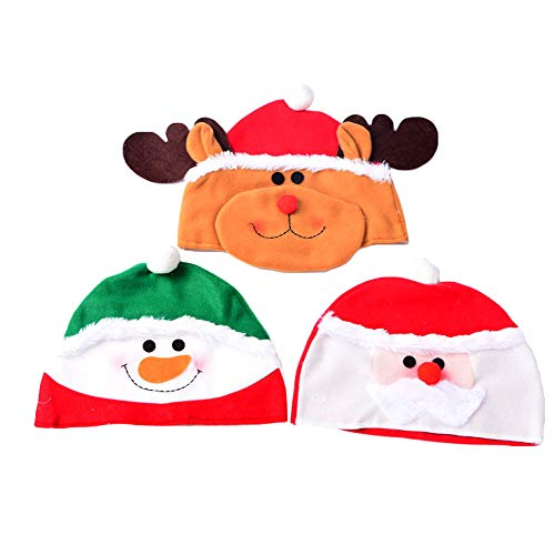 Gbell Kids Christmas Hat - Old Man,Snowman,Elk Caps for Kids Boys Girls Christmas Fun by Gbell (Image #3)