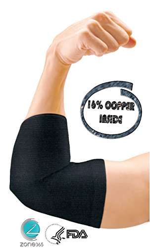 Elbow Sleeve – Copper Compression & Recovery. Elbow Brace / Support with 16% Copper Fabric. For Exercise, Injury Prevention / Protection, Tendonitis. Breathable Hypoallergenic Elbow Brace (Small)