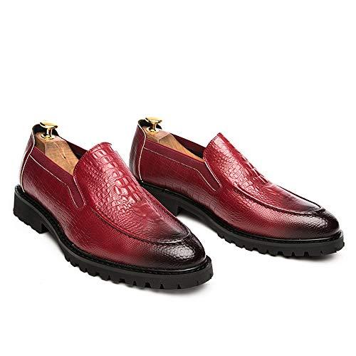 Formal tamaño Oxford los Fang EU Informal Zapatos Casual Formales 40 Pedal Rojo de Zapatos de Zapatos Hombres la 2018 Manera Hombre Elegante One shoes Color Negocios de Rojo SfS1qX