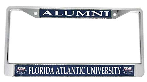 Florida Atlantic University Alumni Chrome License Plate Frame from 1SCS