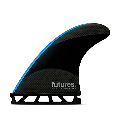 Futures Fins - JJ-2 SMALLTECHFLEX THRUSTER - BLACK/NEON BLUE
