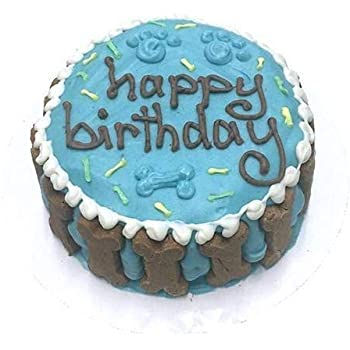 Bubba Rose Happy Birthday Dog Cake Blue