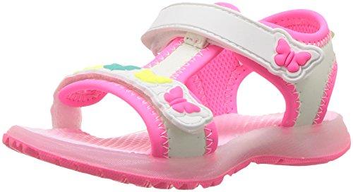 Carter's Chelsea Girl's Light-Up Sandal, White, 10 M US Toddler ()