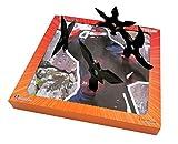 Rubber Ninja Toys 4pc Set plus Foam Target Bundle