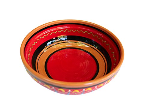 Terracotta Red, Deep Dish - Hand Painted From Spain by Cactus Canyon Ceramics