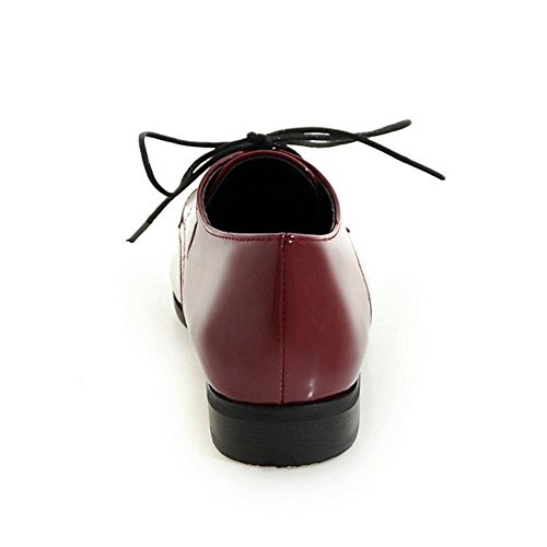 claret Dimensiones Scarpe Donna Casuale Brogue Big Zanpa 1 0Z4q8