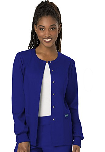 WW Revolution by Cherokee Women's Snap Front Warm-up Jacket, Galaxy Blue, S by WW Revolution by Cherokee