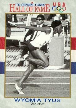 Wyomia Tyus trading card (Olympic USA Track Runner Gold Medal) 1991 Hall of Fame #26