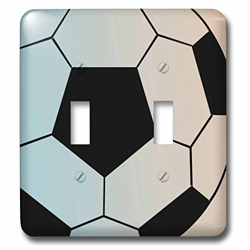 Toggle Light Switch Cover - 3dRose LLC lsp_110591_2 Big Soccer Ball Sports Art Double Toggle Switch