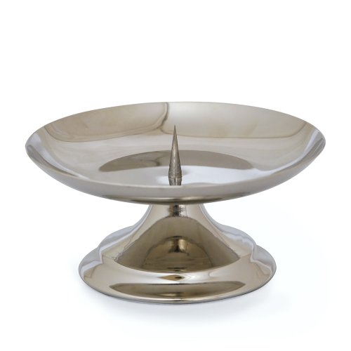 Cathy's Concepts Silver Pillar Candle Holder by Cathy's Concepts