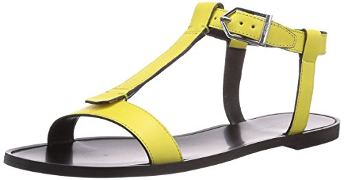 HUGO Serine 10180497 01 - Sandalias de vestir de piel para mujer amarillo - Gelb (Light/Pastel Yellow 744)