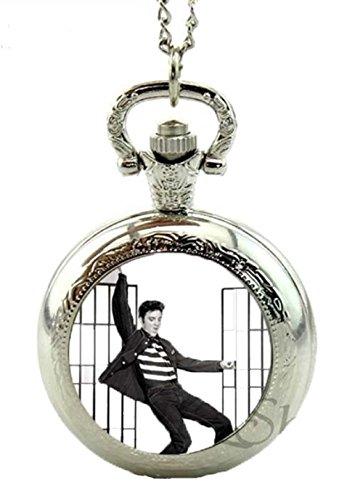 ELVIS Presley JAILHOUSE ROCK Quartz Pocket WATCH or Necklace-32