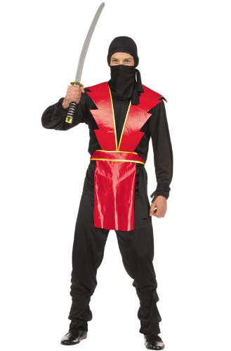 Red Ninja Master Teen Costumes (Ninja Master (Red) Teen Costume Size 16-18)