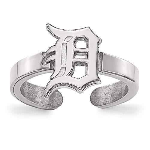 - Kira Riley MLB LogoArt Detroit Tigers Adjustable Open Toe Rings