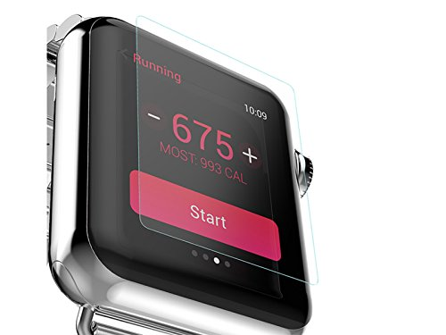 YILON Smart Watch Screen Protector 38mm, 0.15mm thin, Ultra HD, Tempered Glass, Full Coverage, Scratch Resistant for Apple watch Series 1/2 Edition, Clear (2 Pack) by YILON