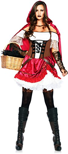 Rebel Riding Hood Adult Womens Costumes (Rebel Riding Hood Adult Costume - Medium)