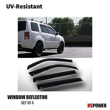 Amazon.com  HS Power 4pcs Front Rear Ventvisor Window Deflector Sun Rain  Guards Smoke Vent Shade Window Visors 2009-2013 for Honda Pilot  Automotive db9b7063d33
